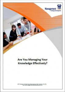 Are You Managing Your Knowledge Effectively